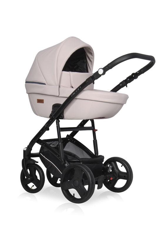 Серая универсальная коляска 2 в1 Коляска для ребенка с рождения Коляска качественная Польша
