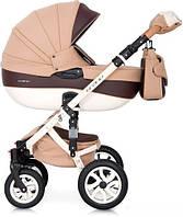 Бежевая детская коляска для ребенка с рождения Коляска люлька трансформер Универсальная коляска 2 в 1
