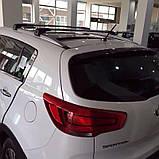 Багажник Seat Leon 2014- черный на интегрированные рейлинги, фото 4
