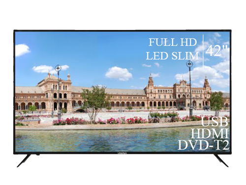 "Телевізор Liberton 42"" FullHD+DVB-T2+USB"