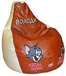 Детское Кресло-пуф мешок груша мягкая Том и Джерри, фото 6