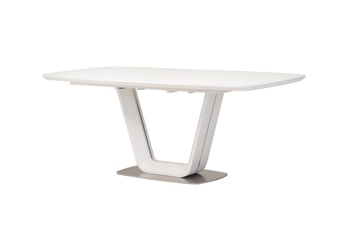 Обеденный стол ТМL-770 матовый белый 160/200 см Vetro Mebel (бесплатная доставка)