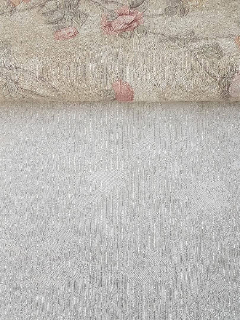 Обои виниловые на флизелине Grandeco Virtuoso метровые однотонные под штукатурку под бетон белые