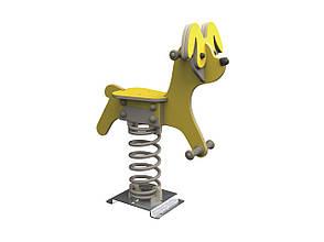 Качалка на пружине KBT Собака из HDPE пластика (полный комплект), фото 2