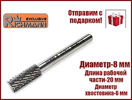 Борфреза шарошка по металлу цилиндр.с торцевым зубом Richmann ZYA/ST 8Х20 мм C8908 Польша