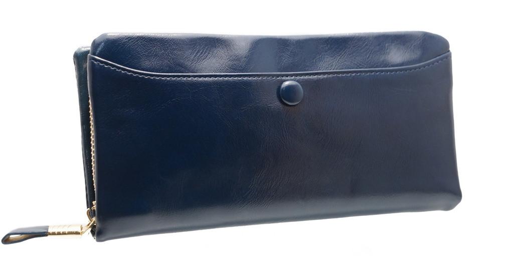 Модный женский кошелек 3288 Blue на молнии