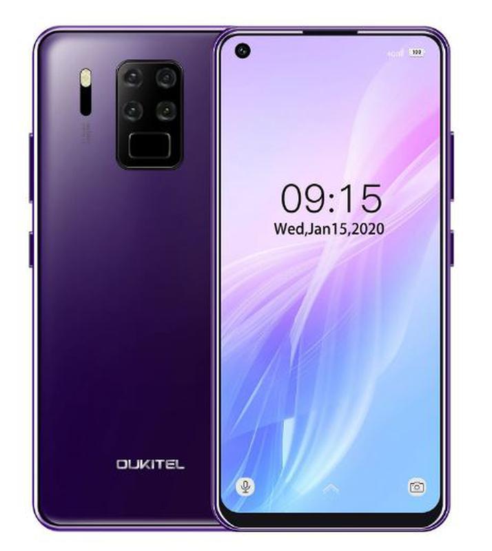 Смартфон с хорошими четырьмя камерами и Face ID на 2 симки OUKITEL C18 Pro purple