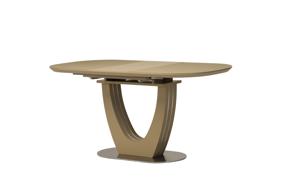 Раздвижной стол ТМL-765-1 матовый капучино 120/160 от Vetro Mebel (бесплатная доставка)