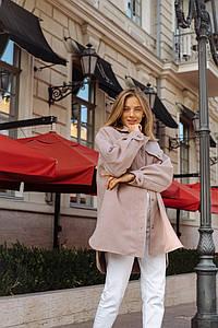 Женская кашемировая рубашка - пальто оверсайз
