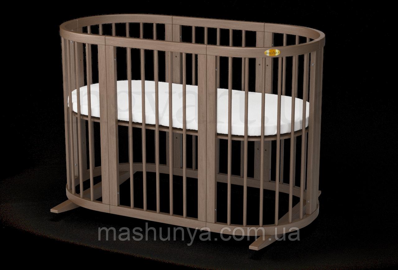 Овальная кроватка - трансформер 9 в 1 Ingvart SmartBed Oval Пром
