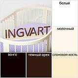 Овальная кроватка - трансформер 9 в 1 Ingvart SmartBed Oval Пром, фото 10