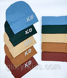 Комплект трикотажный шапка и хомут р52-54 поштучно