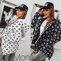 Куртка женская демисезонная чёрная, белая, 42-44, 46-48, фото 1
