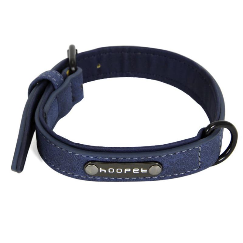 Ошейник для собак Hoopet W033 Blue XL двухслойный