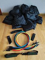 Набор трубчатых эспандеров для фитнеса 5 штук / Многофункциональный комплект + Чехол, Эспандер Бубновского