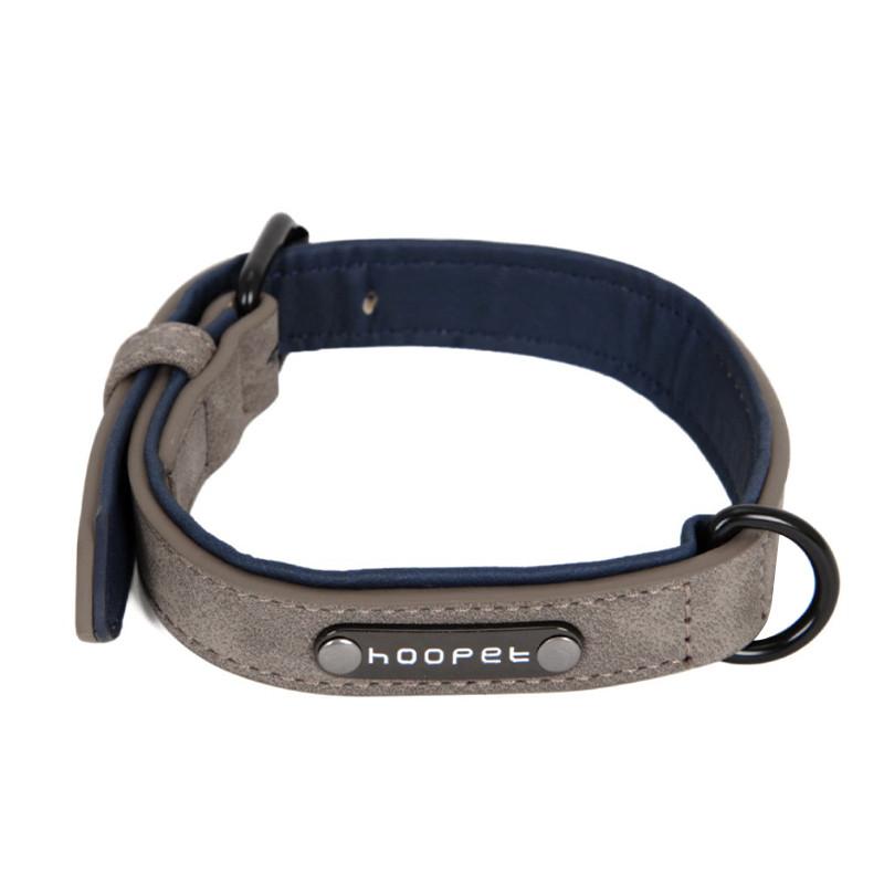 Ошейник для собак Hoopet W033 Grey M двухслойный