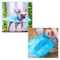 Дождевик для собак Hoopet HY-1555 Blue XXL жилет плащ, фото 3