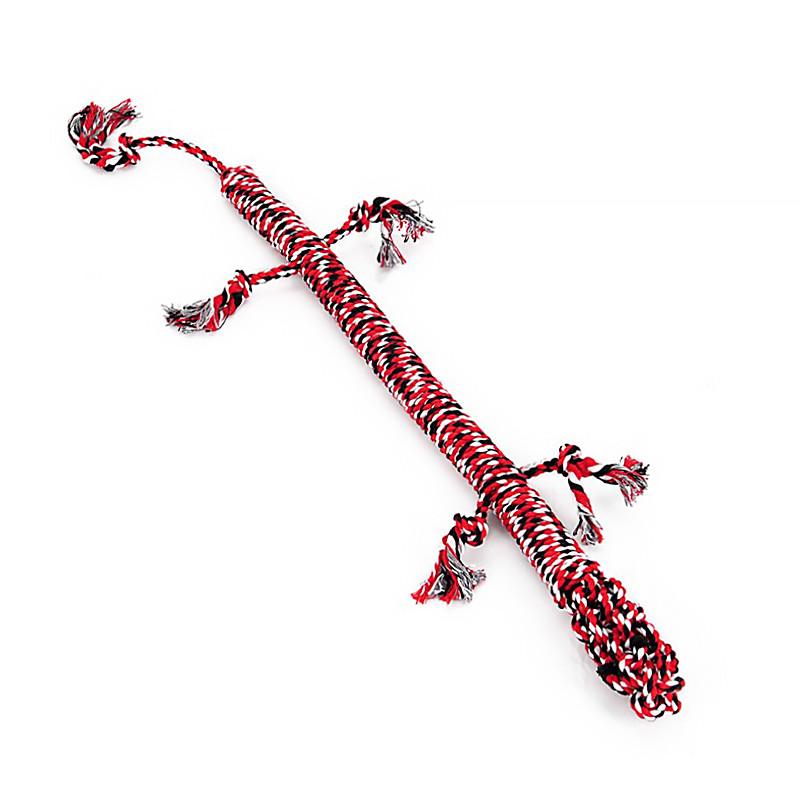 Игрушка веревочная ящерица для домашних животных Hoopet W032 Red + White + Black