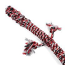 Игрушка веревочная ящерица для домашних животных Hoopet W032 Red + White + Black, фото 2