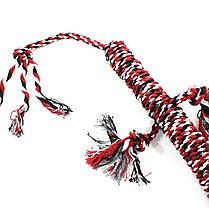 Игрушка веревочная ящерица для домашних животных Hoopet W032 Red + White + Black, фото 3