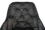 Стілець M-65 сірий м'яке крісло метал в стилі модерн, фото 7