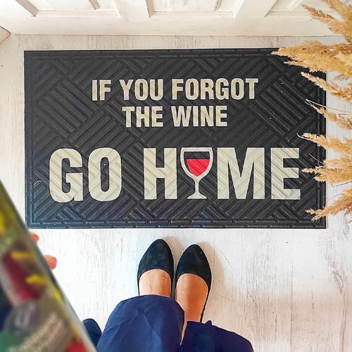 Коврик придверный с принтом If you forgot the wine go home 45x75x0,4 см (KOV_20S015)