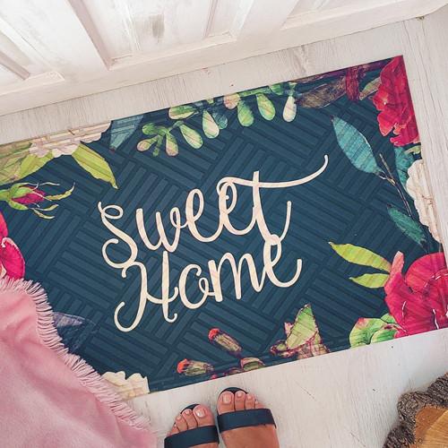 Коврик придверный с принтом Sweet home 45x75x0,4 см (KOV_20S008)