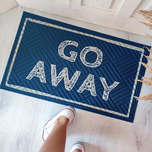 Коврик придверный с принтом Go away 45x75x0,4 см (KOV_20S007)