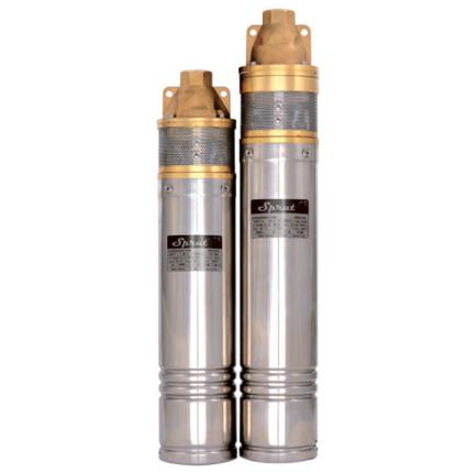 Скважинный насос SPRUT 3SKm 100 + кабель15м + пульт управления глубинный насос напор 66м, 1000Вт, фото 2