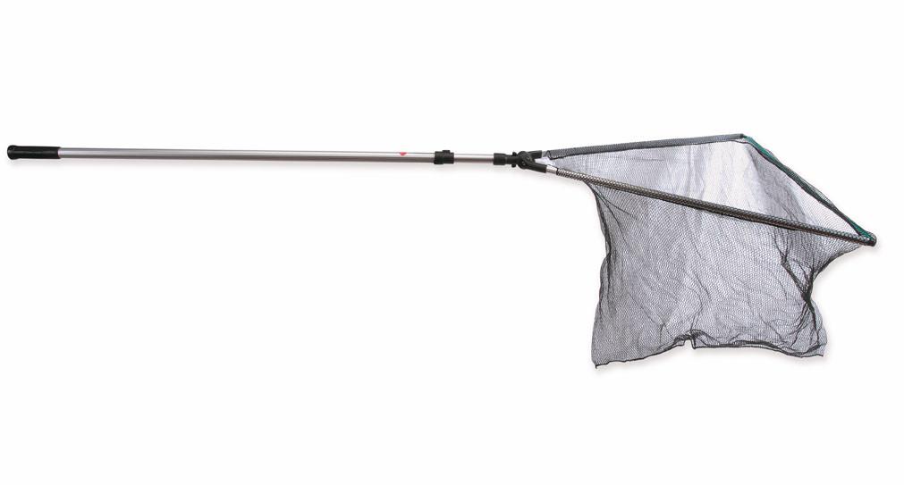 Подсак металлический Lineaeffe AttaccoRapido раскладной длина 2.0м  голова 50х57см сетка 6мм