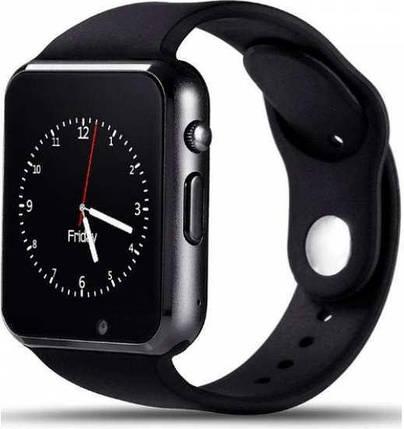 Смарт-часы Smart Watch A1 Black c SIM картой, фото 2