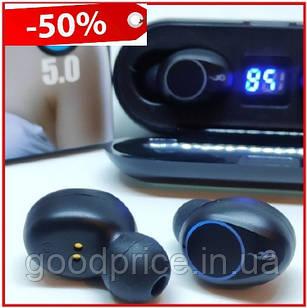 Беспроводные сенсорные Bluetooth наушники - Amoi f9 TWS Touch, индикатор заряда - LED Display, Power Bank