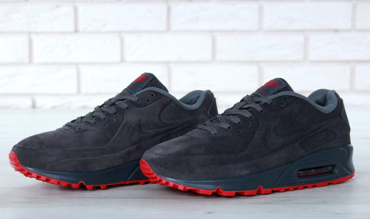 Зимние Мужские черные Кроссовки Nike Air Max 90
