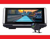 "DVR K6 Видеорегистратор на торпеду - 2 камеры / GPS  / 7""IPS Экран / 4Ядра / 8Gb / 1Gb Ram / Android, фото 1"