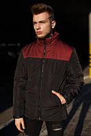 Куртка Мужская демисезонная Vidlik черная-бордо