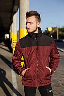 Куртка Мужская демисезонная Vidlik бордо- черная