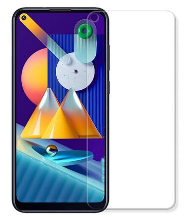 Гидрогелевая защитная пленка на Samsung Galaxy M11 на весь экран прозрачная, фото 2