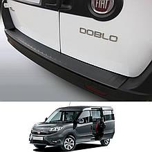 Пластикова захисна накладка на задній бампер для Fiat Doblo 2010-2014 / Lift. 2015-2021