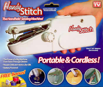 Миниатурная ручная швейная машинка Handy Stitch