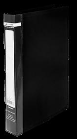 Папка пласт. з 2-ма кільцями, А4 (25мм), JOBMAX, чорний
