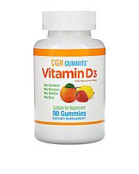 California Gold Nutrition, Жевательные конфеты с витамином D3, без желатина, со вкусом ягод и фруктов,90 шт