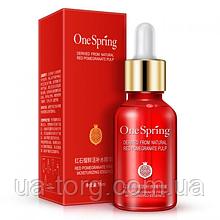 Сыворотка ONESPRING Red Pomegranate Fresh для лица увлажняющая с гиалуроновой кислотой и экстрактом граната 15