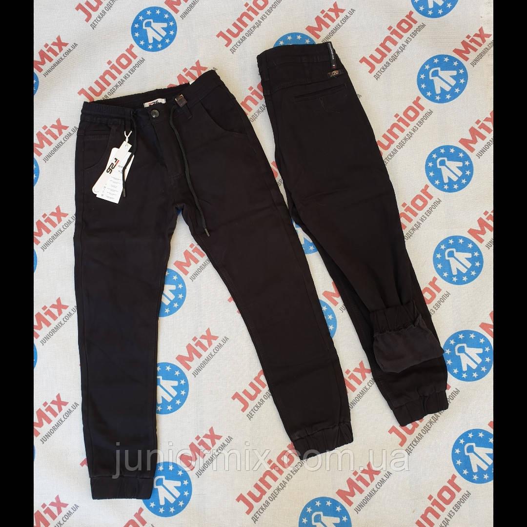 Подростковые котоновые теплые черные брюки для мальчиков  оптом