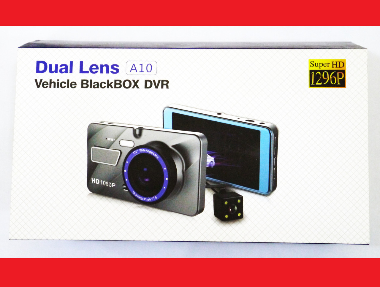 """DVR A10 4"""" Full HD с выносной камерой заднего вида"""