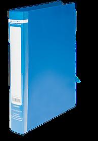 Папка пласт. з 2-ма кільцями, А4 (25мм), JOBMAX, синій