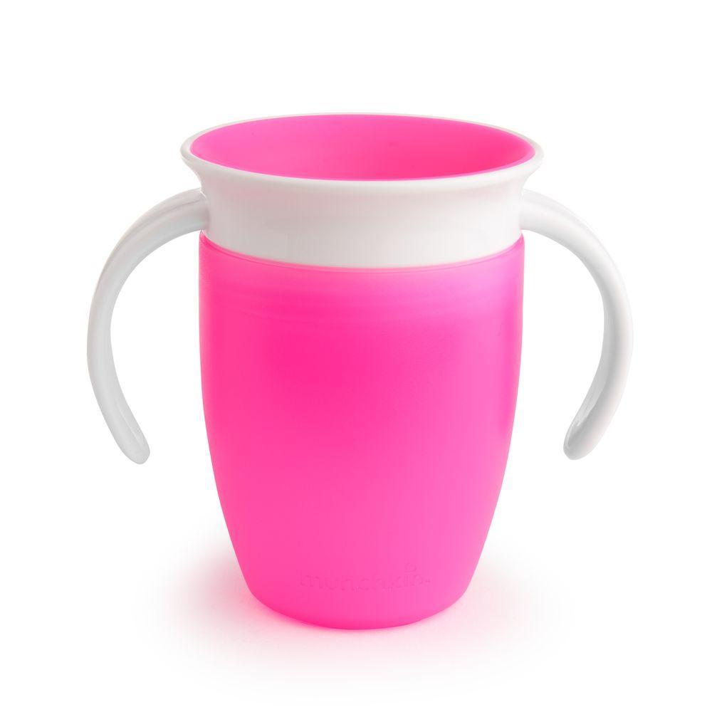 Чашка-непроливайка с ручками MUNCHKIN Miracle 360 (розовый)