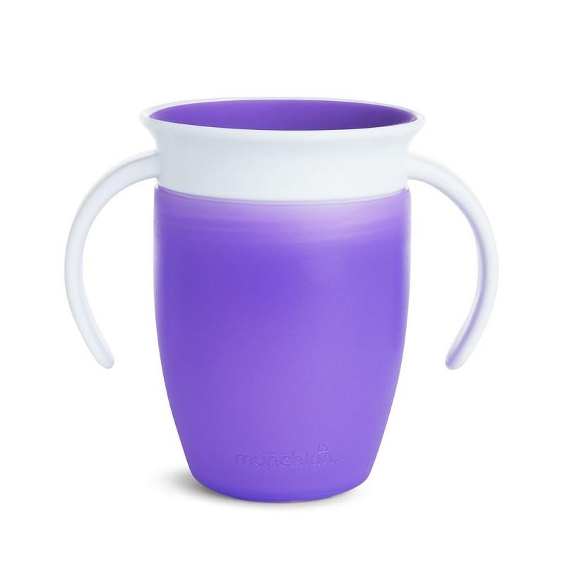 Чашка-непроливайка с ручками MUNCHKIN Miracle 360 (фиолетовый)