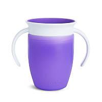 Чашка-непроливайка с ручками MUNCHKIN Miracle 360 (фиолетовый), фото 1
