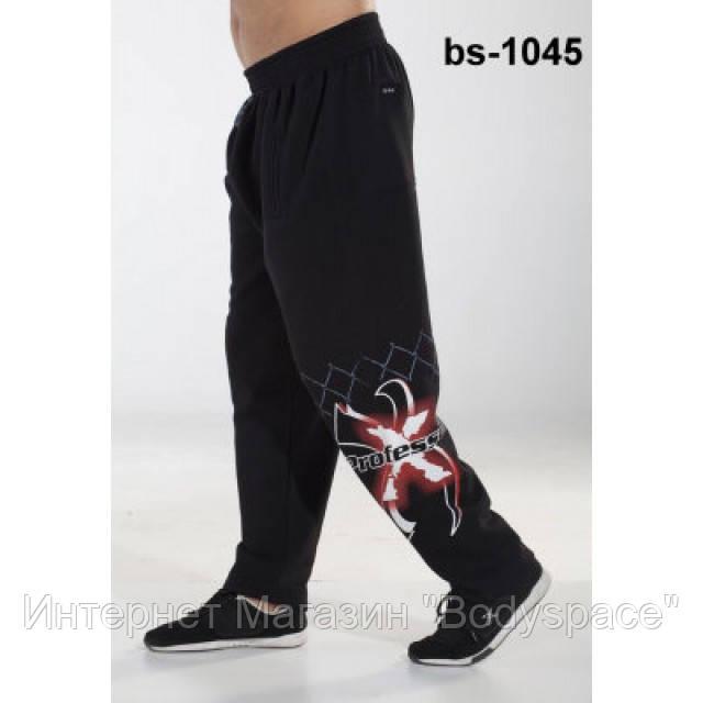 Big Sam, Штаны спортивные зауженные теплые 1045 Pants, Черно / Красные