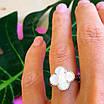 Серебряное кольцо Клевер с перламутром - Брендовое кольцо Клевер серебро с перламутром, фото 3